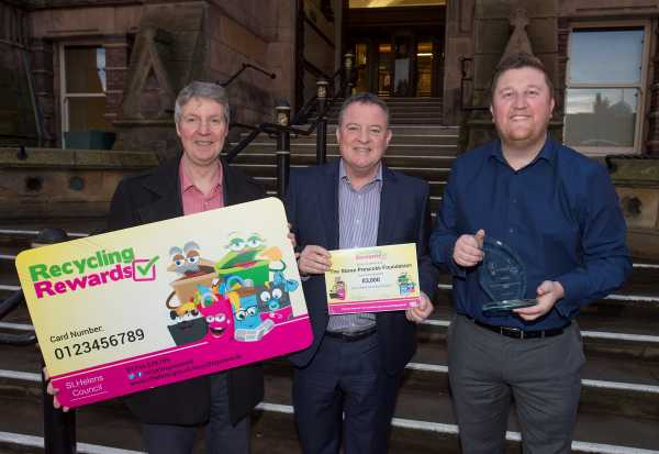 SPF receives £3k from St Helens Council recycling initiative