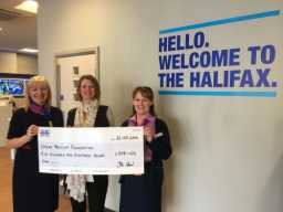 Halifax branch staff St Helens donate £518 to the SPF