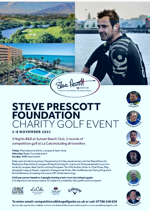 STEVE PRESCOTT FOUNDATION GOLF WEEKEND NOV 2021